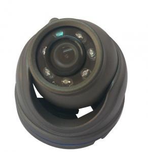 China 700 TVL Black Vehicle Mounted Cameras , Infrared Mini Dome Security Car Camera on sale