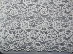 White Bridal Corded Lace Fabric Knitted Cotton Nylon Rayon Lace For Clothing