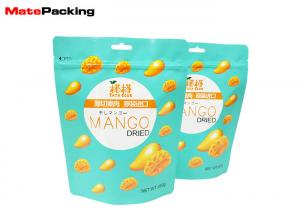 China Custom Printing Stand Up Resealable Pouch , Clear Window Ziplock Stand Up Pouch For Dry Food on sale