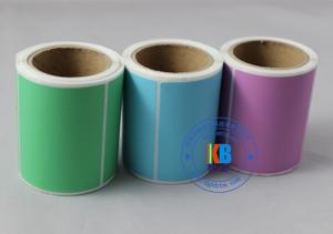China Custom blank thermal transfer printing adhesive colorful paper label roll sticker on sale