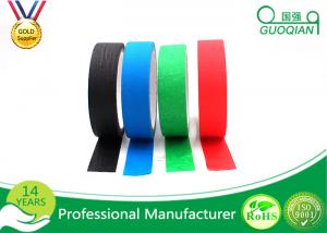 China Heat Resistance No Residue Colored Masking Tape For Wall / Car Painting on sale