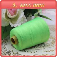 Shiny Green 8000Y Length Spun Type Sewing Thread Mercerized Polyester