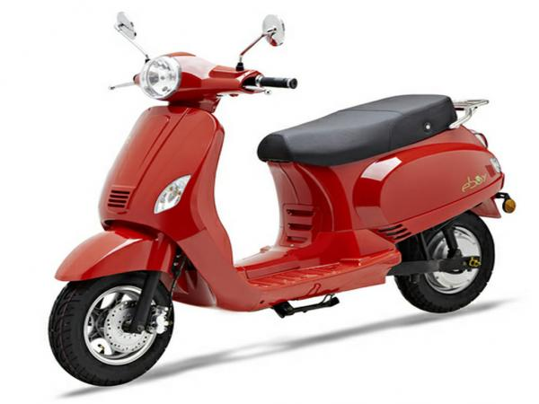 piaggio vespa red 3000w electric scooters , eec electric scooter