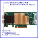 10 Gbps Fiber Optical Server NIC, 2 Port Network Server Network Card/ Adapter, Intel X520-SR2 (E10G42BFSR)
