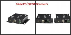 China 1 Channel HDCVI Video to fiber optic Ethernet Converter 25KM FC / SC / ST Connector on sale