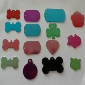 China dog tags wholesale,blank anodized aluminum dog tags,colorful metal pet id tag on sale
