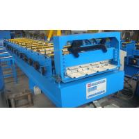 Roof Tile Trapezoidal Sheet Roll Forming Machine15 Rows 1.32 Inch Chain Driving
