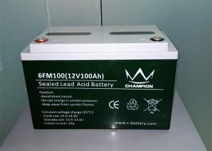 China 6FM100 12v 100ah Grid Inverter Batteries Industrial Deep Cycle Batteries AGM Type on sale