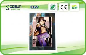 China Square LED Magic Mirror Light Box Illuminated PMMA , SMD3528 LED 10mm Thickness on sale