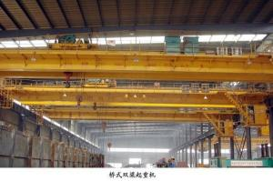 China Stable Electric Double Girder Overhead Crane 24 Months Warranty With Hook on sale
