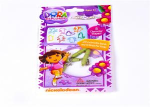 China Colorful Printed Header Bags Self Adhesive Seal OPP Plastic Bag With Header on sale