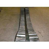 Mini Black Excavator Rubber Tracks 350 X 52.5 X 104 With Steel Wire Inside