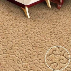 China Wool Blend Carpet Tiles with Computerized Jacquard, Various Colors are Available on sale