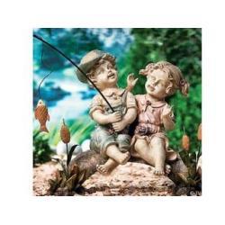 Polyresin garden girl polyresin garden girl manufacturers for Little boy fishing statue