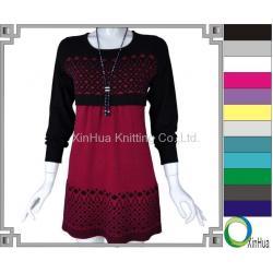 China Lady's long sweater SL1283436 on sale