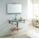 China Glass bathroom cabinet Model:G-6002 on sale