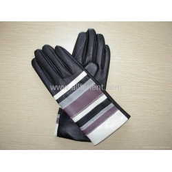 China Winter Leather Glove,Ladies' Fashion Leather Glove With Cashmere Liner on sale