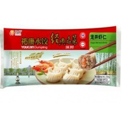 China Dragon-well tea flavored shrimps dumpling on sale