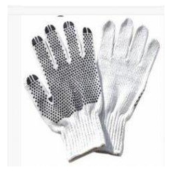 China 7 Gauge Bleached White Cotton Hand Gloves For Warehousing Construction on sale