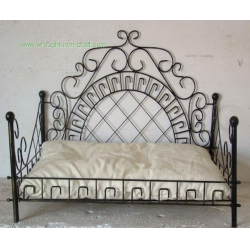 china luxury wrought iron pet beds metal frame dog bed on sale