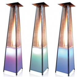Great LED Multi Color Lighting Gas Flame Patio Heaters On Sale