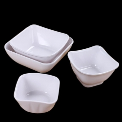 China Hot sale melamine white plastic rice bowl,soup bowl for tableware on sale