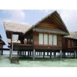 China Overwater Bungalow Prefab Prefab House For Resort Water Bungalow on sale