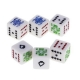 China 2015 Alibaba China Market Bulk Acrylic Custom Different Colored Decision Made Casino Plastic Dice on sale