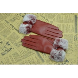 China Women winter leather gloves with Fur GY468 Women winter leather gloves with Fur GY468 on sale