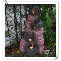 Resin garden water fountain resin garden water fountain for Japanese water feature for sale