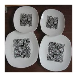 China square plate Melamine white ceramic dinner plates/Wholesale Melamine salad plate on sale