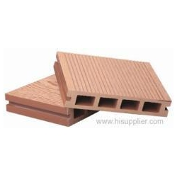 China 135*27mm outdoor hollow wpc decking on sale