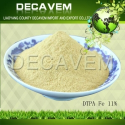 China DTPA Fe, DTPA Iron chelated micronutrients fertilizer, yellow brown powder, Ferric 11% on sale
