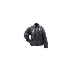 China Giovanni Navarre Italian Stone Design Genuine Buffalo Leather Bomber Jacket - XLarge on sale