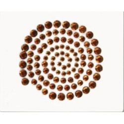 China Self-Adhesive Gems SAG003100pcs bronze gems sticker on sale