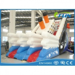 China inflatable slide inflatable Titanic slide Product ID:IF-WS007 on sale