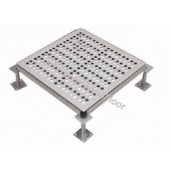 China Fire Proof Perforated Raised Floor with grid shaped , Raised Computer Flooring on sale