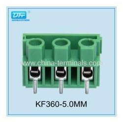 China blue/black color Wire Connector 3 Position Screw Terminal Block 300V 16A on sale