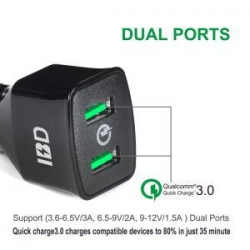 China Qualcomm Dual Car Charger on sale