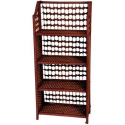 China Natural Fiber Shelving Unit - Four Shelf on sale