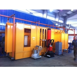 China Auto Painting Line Powder Spray Booth on sale