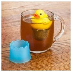 China Duck shaped yellow Tea infuser on sale