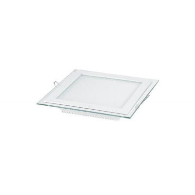 6w 12w square glass led panel ceiling lights