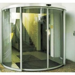 China Auto curved sliding door on sale