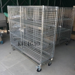 China Chrome Three Sides Wire Mesh Security Cage on sale