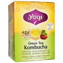 China (121) Yogi Tea, Green Tea Kombucha, 16 Tea Bags, 1.12 oz (32 g) on sale