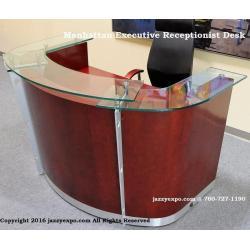 China Manhattan Executive Receptionist Desk 6 feet in Dark Cherry on sale