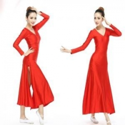 China Adult's Dancwear Adult Long Sleeve Long Skirt SD4060 on sale