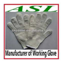 China working shoes Nature White Cotton Working Glove on sale