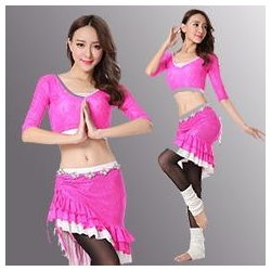 China 3Pieces Lace Professional Belly Dance Costume With Size M/L,Belly Dance Costume on sale